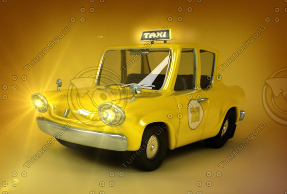 taxi cartoon 3d model