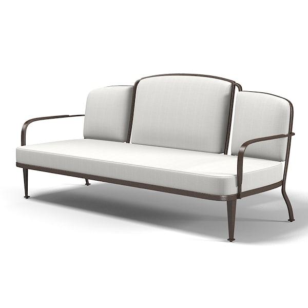 art deco outdoor furniture. mcguire belmont outdoor settee sofa barbara barry art deco bb13 furniture e