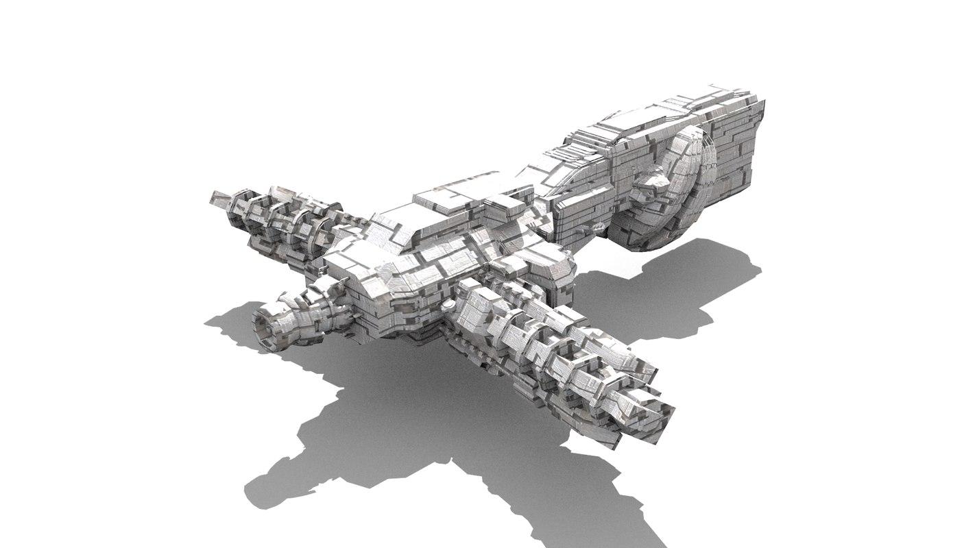obj space spaceship