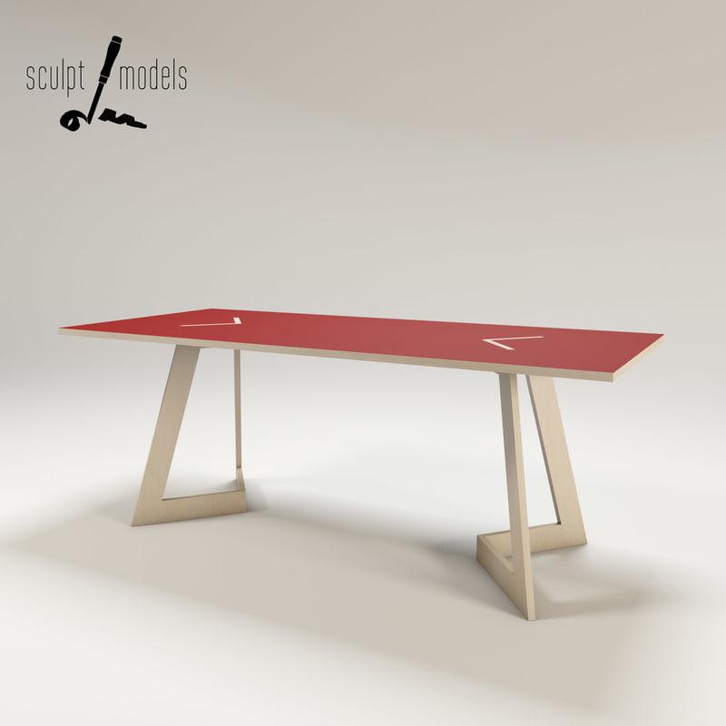 3d tischmich table
