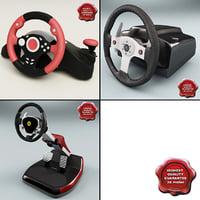 3d usb steering wheels model