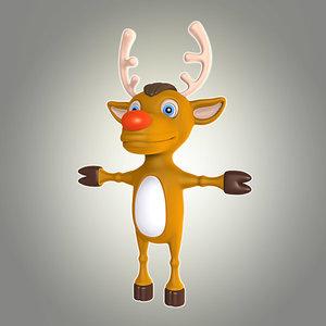 cool cartoon christmas deer max