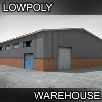 warehouse facility factory 3d model