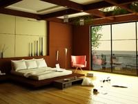 Modern Elegant Bedroom Scene