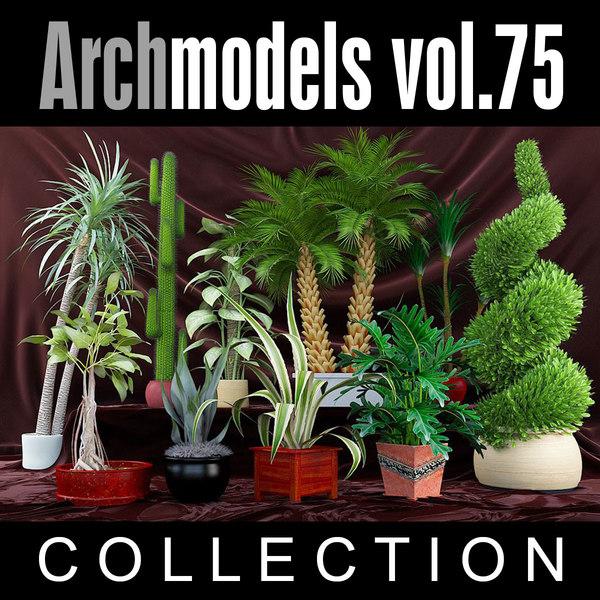 3ds max archmodels vol 75 plants