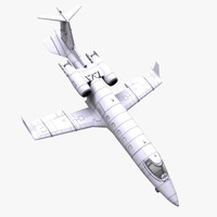 learjet 60 jet aircraft 3d model