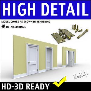 3d model door scene home
