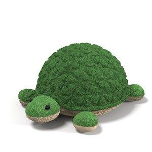 3d toy turtle plush model