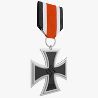 iron cross 2nd class 3d model