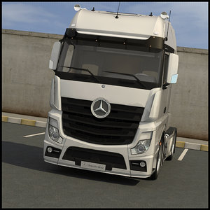 mercedes actros gigaspace 3d model