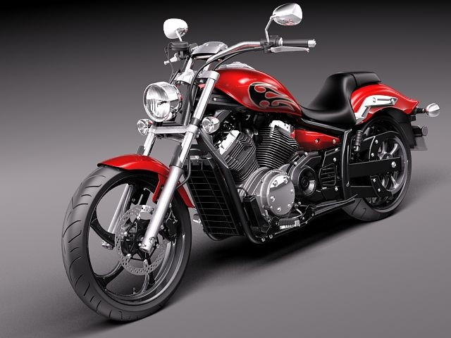 3d yamaha stryker 2012 motorcycle