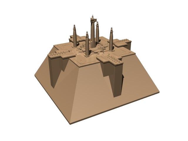science fiction temple obj