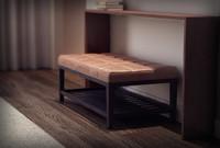ottoman footrest 3d model
