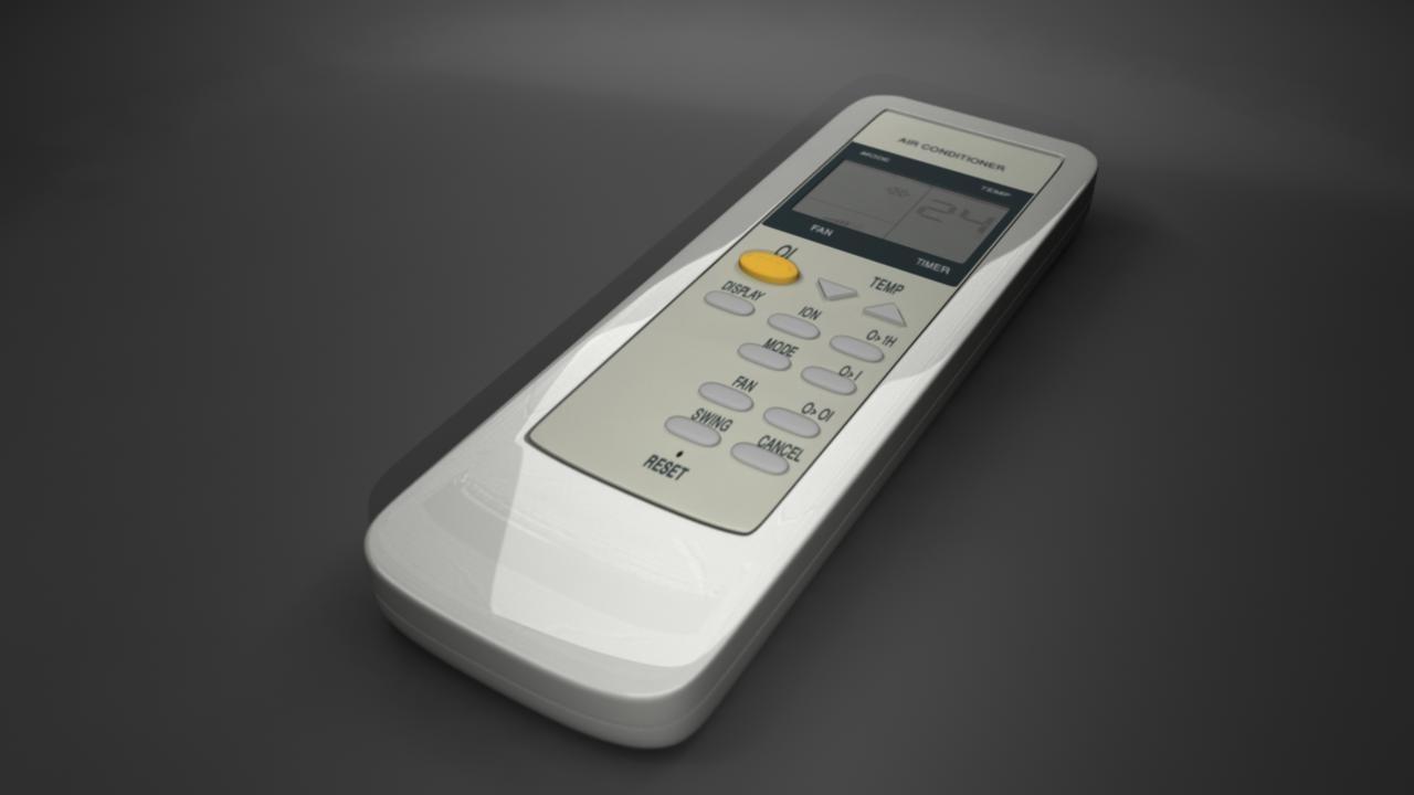 3d model air condition remote control