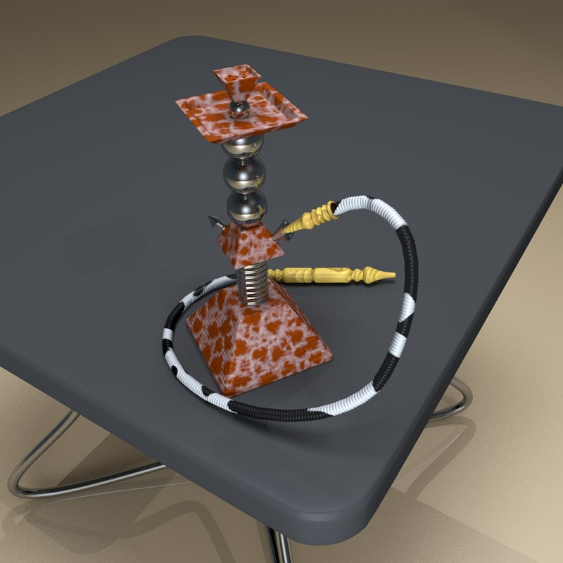 3d model pyramid hookah