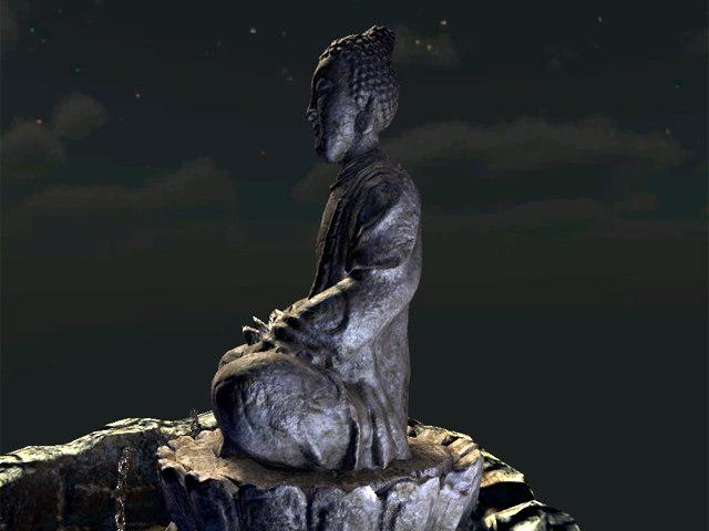 statue bouddha 3d max