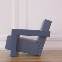 3d model 637 chair rietveld