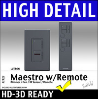 Lutron Maestro IR Dimmer Switch And Remote 3D Model