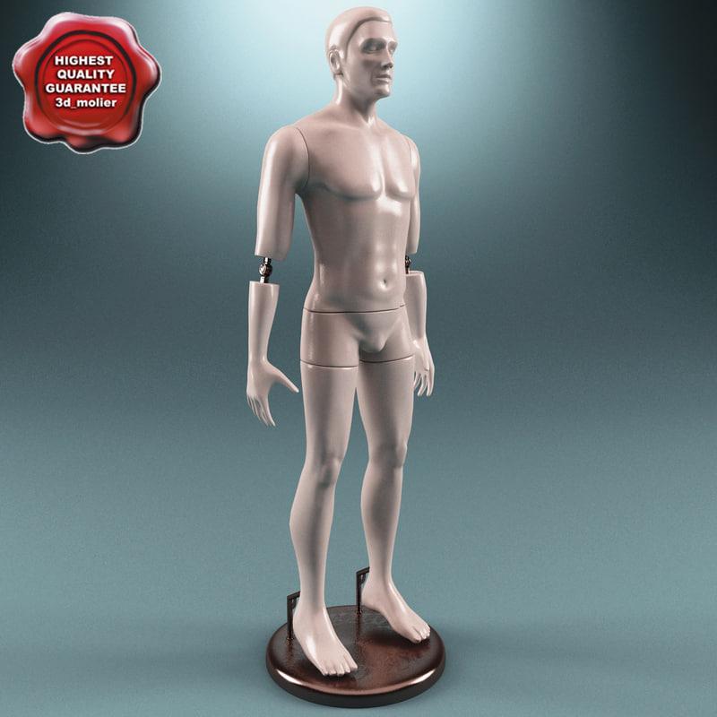 male mannequin v3 3d 3ds