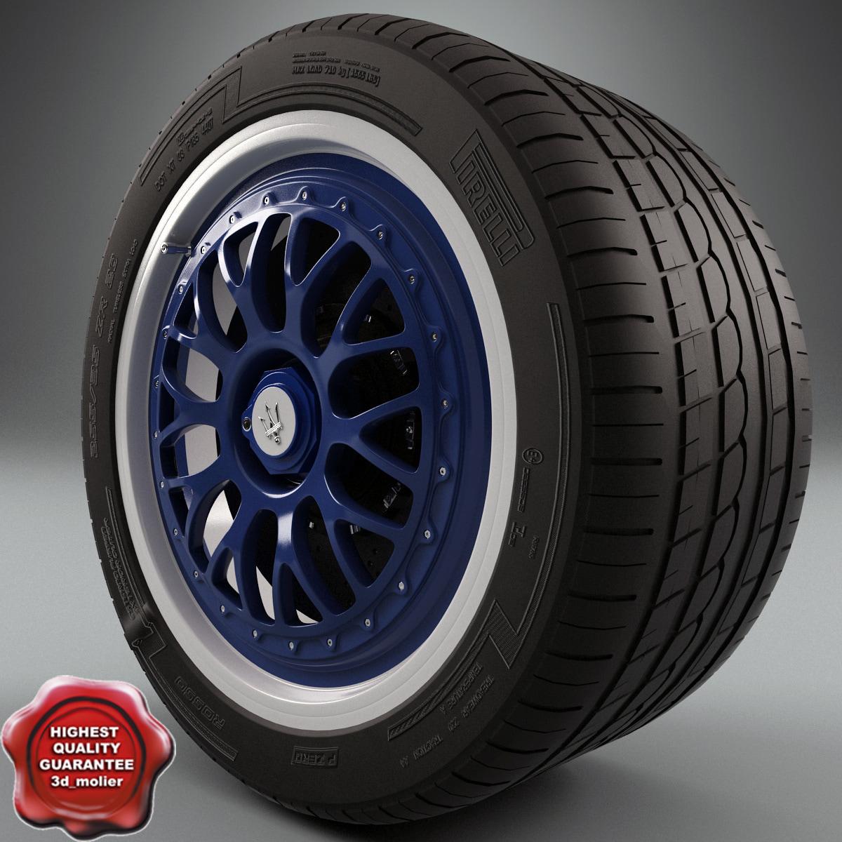 maserati wheel 3d max