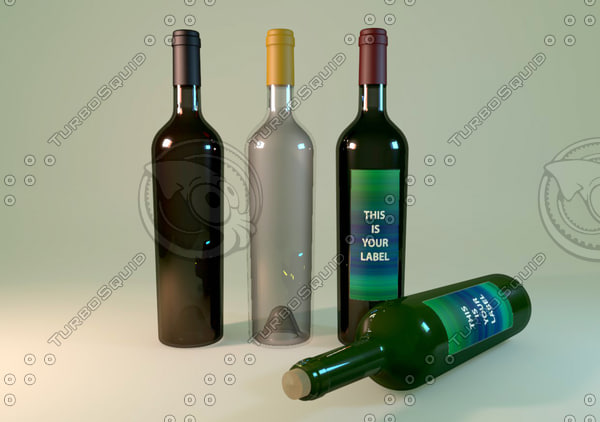 3ds max wine bottle 592075
