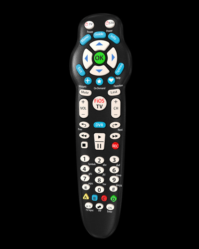 verizon remote control 3d c4d