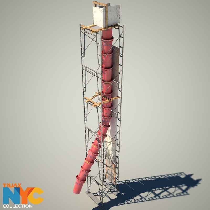 construction scaffolding chute studios 3d 3ds