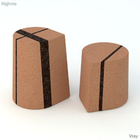 skram cork stool 3d model