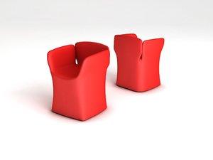 bloomy chair bloom 3d model