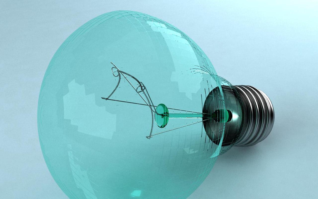 3d filament bulb model