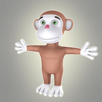 simple cartoon monkey 3d model