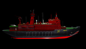 icebreaker yamal 3d model