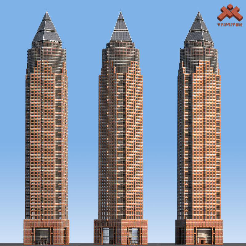 3d messeturm skyscraper landmark tower