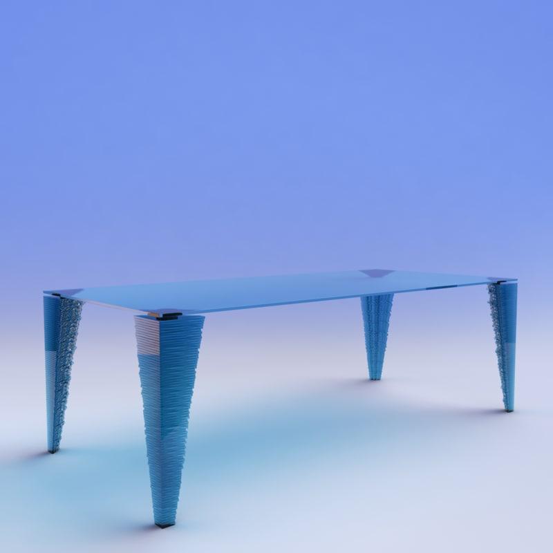 maya atlas glass table