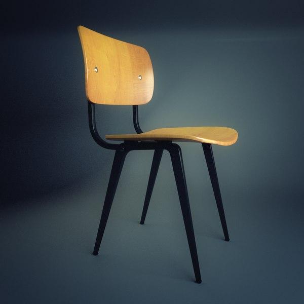 chair friso kramer 3d model