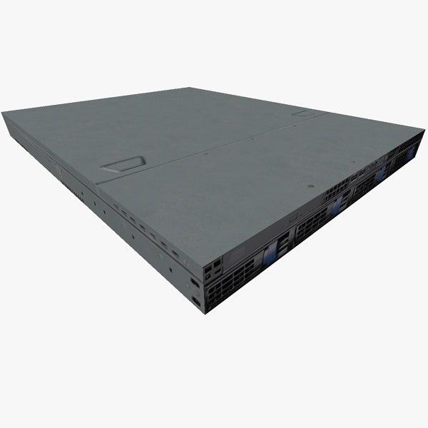3d model 1u rack mount server