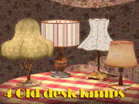 4 Old desk lamps