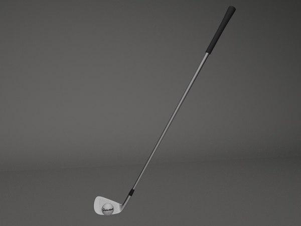 3d golf iron model