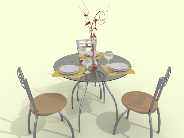 cafe table 3d max
