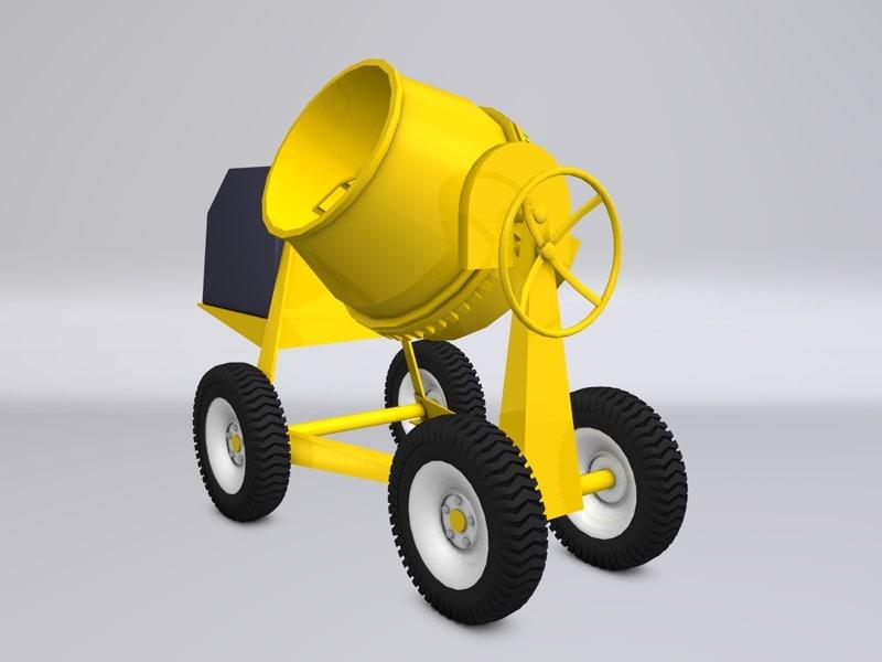 3ds polly concrete cement mixer