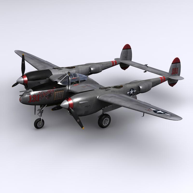 max p-38 lightning fighter mcguire
