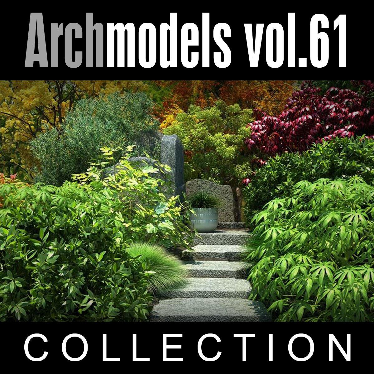 3d model archmodels vol 61 plants