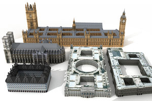 westminster abbey building 3d model