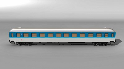 3d obj interregio passenger car