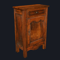 Old Traditional Cabinet, Low Poly