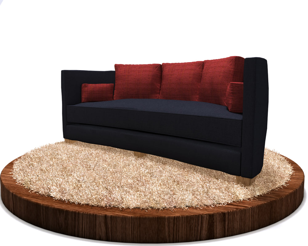 3d rounded sofa