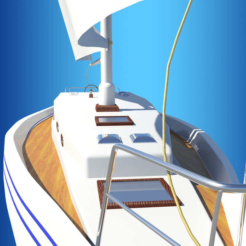 3d sail boat sailboat model