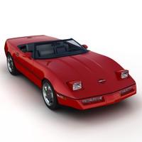 3d 3ds chevrolet corvette c4 convertible