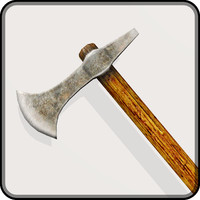3ds medieval battle axe