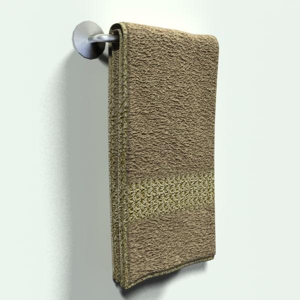 3d model hand towel